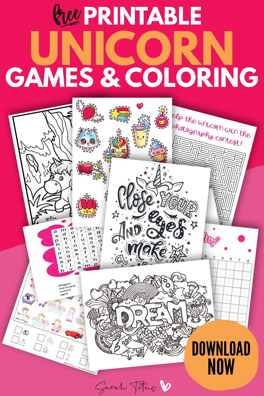 Fun Free Printable Unicorn Template Games Unicorn Printables Printables Free Kids Coloring Pages For Kids