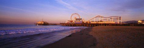 Santa Monica Pier California Usa Chances Cali Room Pinterest