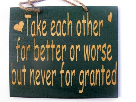 Take each other for better or worse but by MackleyWoodenGifts, $7.25