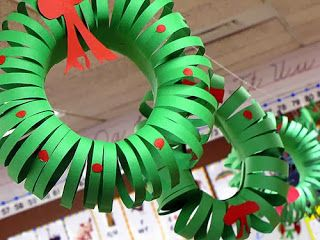Construction paper wreath