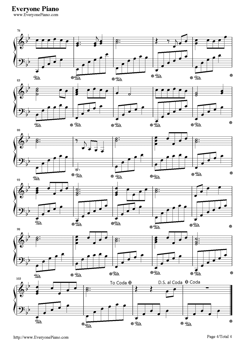Arrietty S Song Stave Preview 4 Free Piano Sheet Music Piano