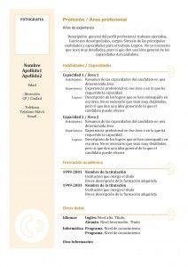 Plantillas de Currículum Vitae | Hacer Curriculum
