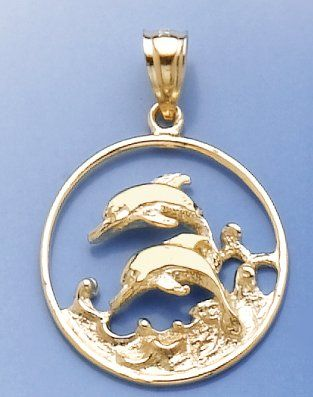 Amazoncom 14k Gold Nautical Necklace Charm Pendant Double