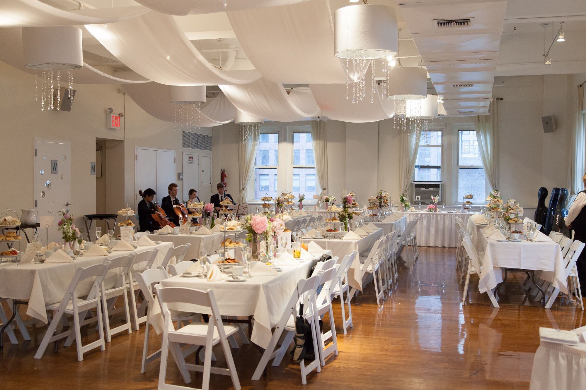 wedding setup at the midtown loft event space in nyc midown loft