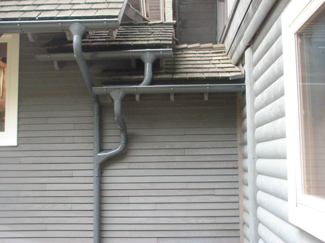 Pin By Amraporn Chaaumdee On Lindab Rainline Downpipes Euro Style Gutters Gutter