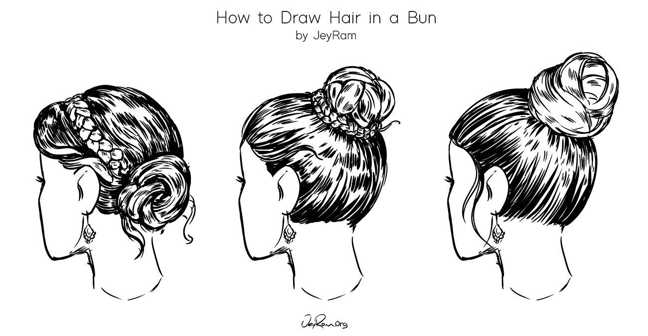 Photo of How to Draw Hair in a Bun: Easy Tutorial for Beginners  — JeyRam Art