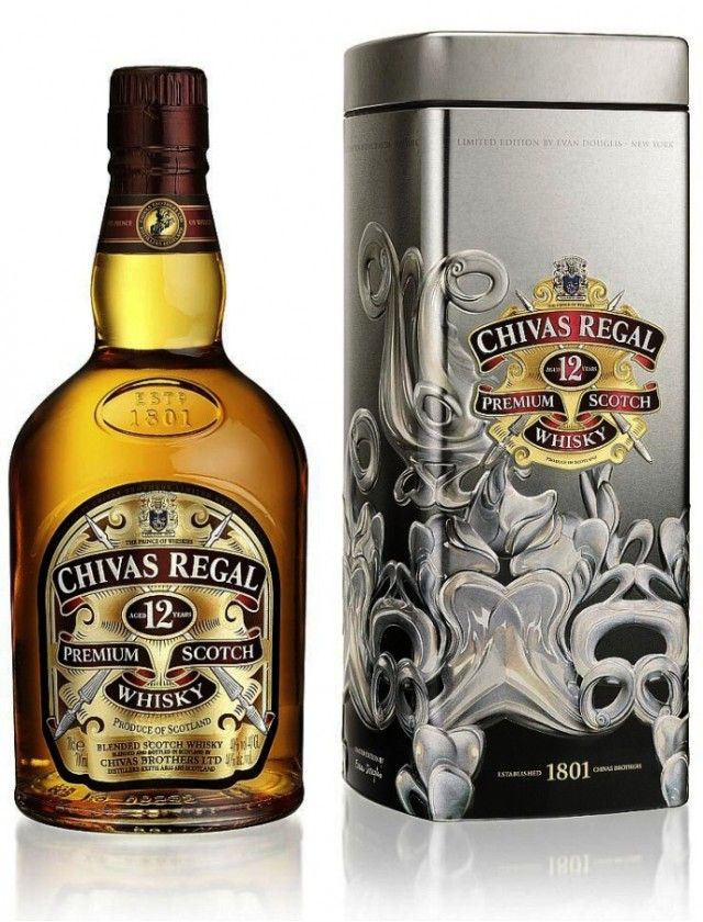 Chivas Regal 12y 0 7l Plech Personalized Gift Labels Whisky Chivas Regal Gift Labels