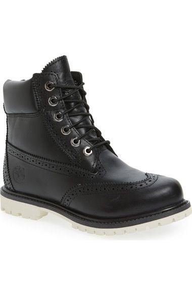 Indefinido Contorno virtud  Timberland Brogue Top Shelf Collection Waterproof Boot (women)   ModeSens    Womens waterproof boots, Boots, Black brogue boots