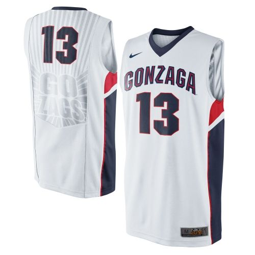 Gonzaga Bulldogs Nike No. 13 Replica Master Jersey - White  61f145315