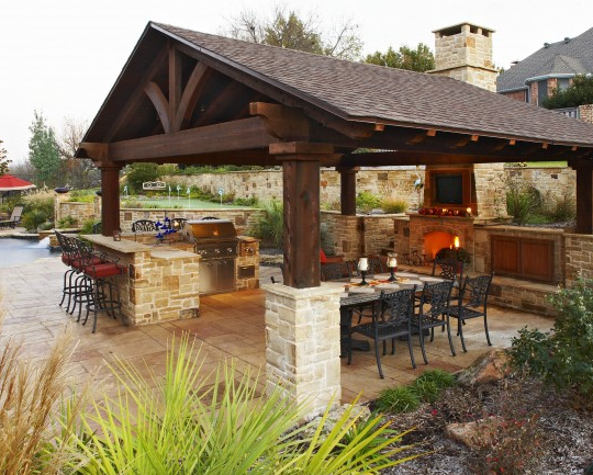 Outdoor Kitchens Designs outdoor kitchen designs featuring pizza ovens, fireplaces and