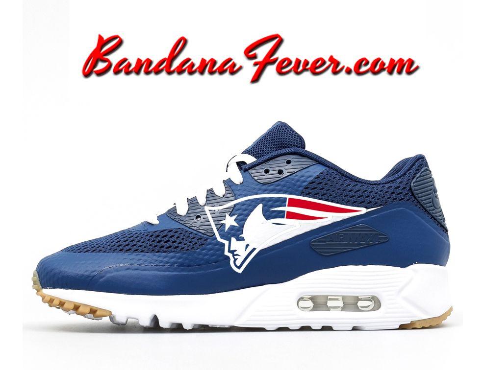 the best attitude b153b 6400a ... ireland nike new england patriots air max 90 ultra mens coastal blue  bandana fever d6d61 2b154