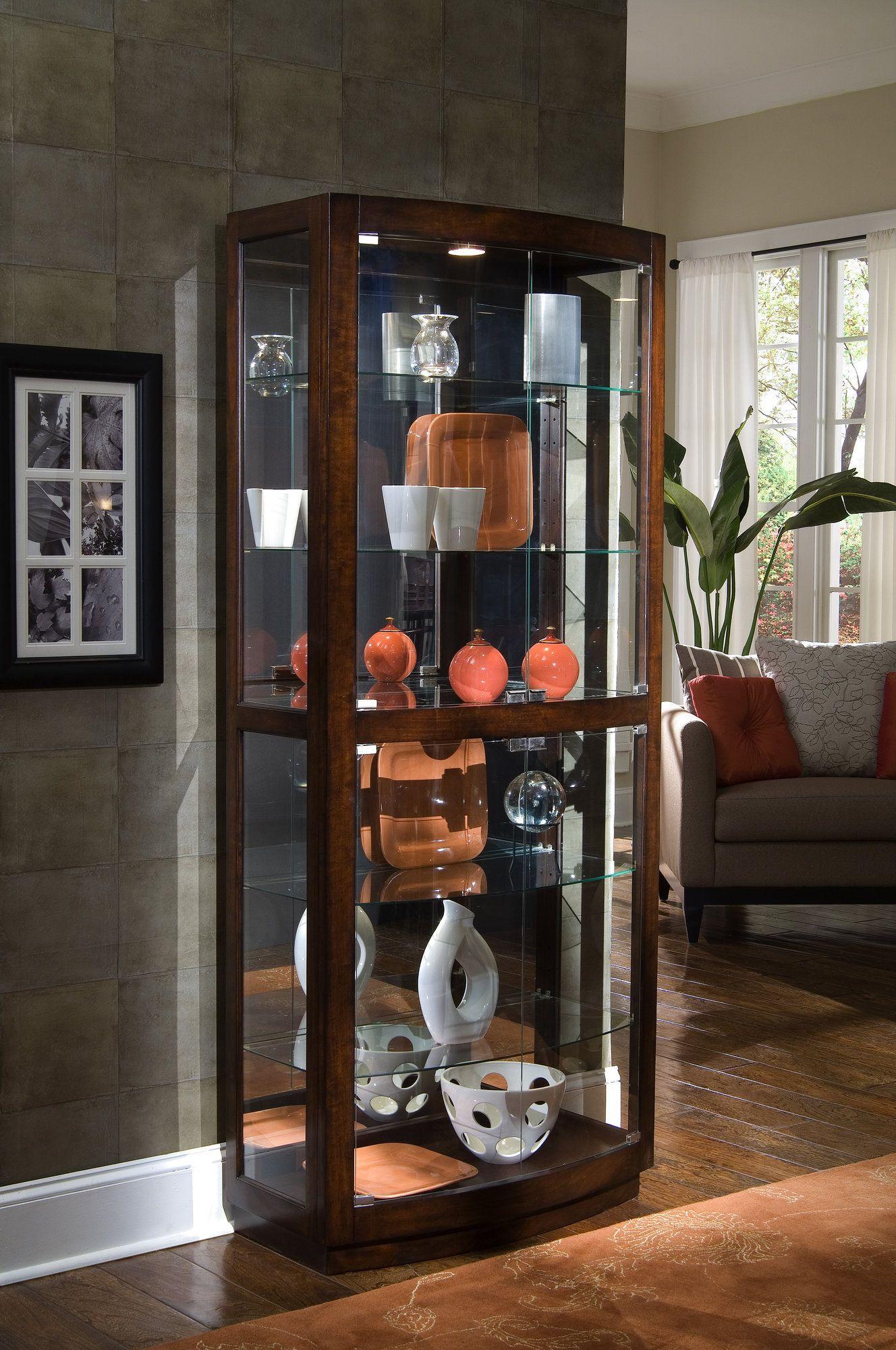 Cheshire Lighted Curio Cabinet | Mueble vitrina, Vitrinas y ...