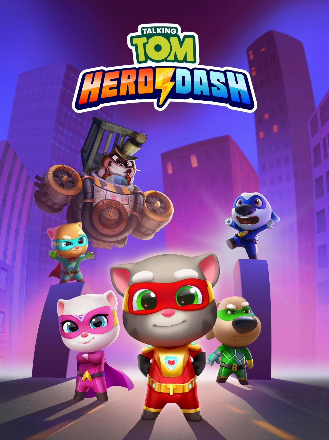 Talking Tom Hero Dash Run Game On The App Store Tatuagens De Personagens De Desenhos Animados Super Heroi Heroi