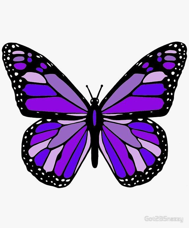 'Purple Monarch Butterfly' Framed Print by Got2BSnazzy