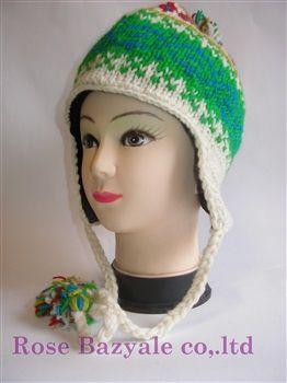 Woolen Animal Hand Made Knitt Hat Rainbow