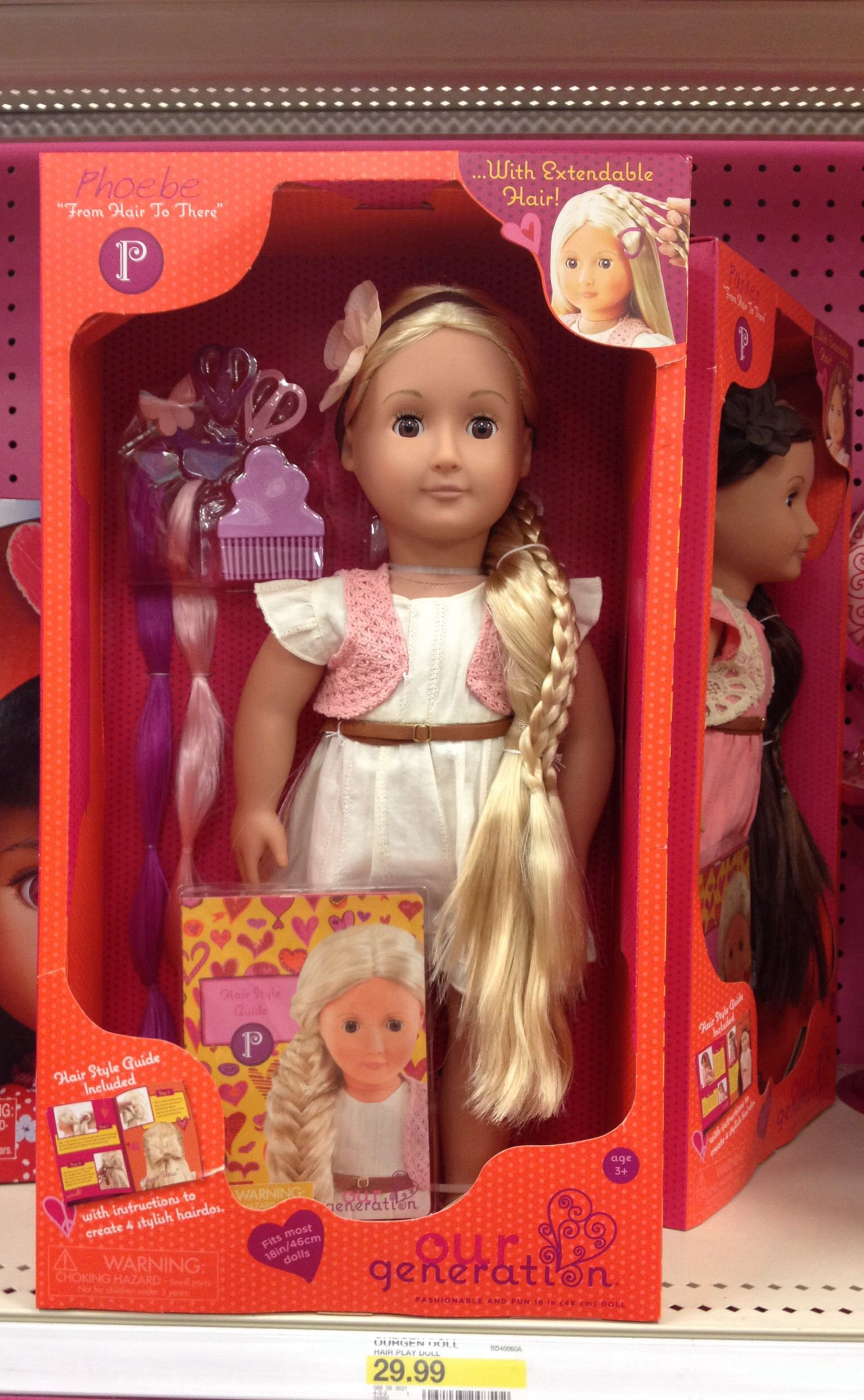 Our Generation Quot Phoebe Quot Hair Play Doll Target 25 Our