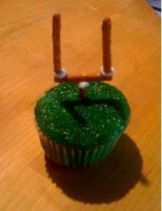 Football cupcake #SuperBowl
