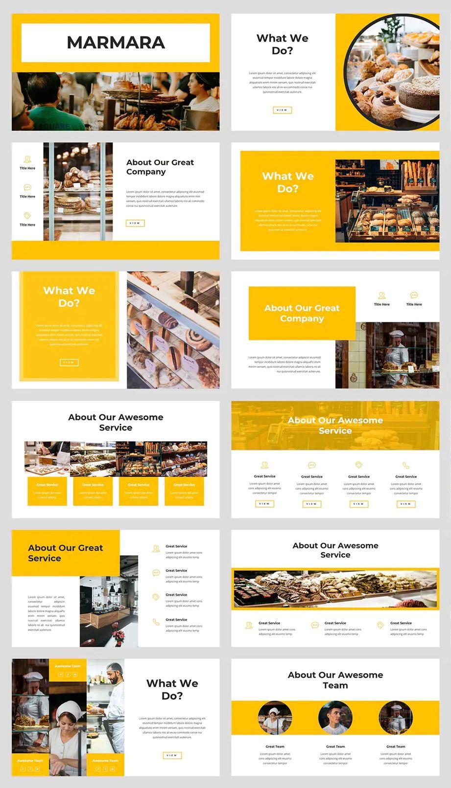 Bakery Powerpoint Template 36 Slides Powerpoint Presentation Design Powerpoint Design Templates Powerpoint Design