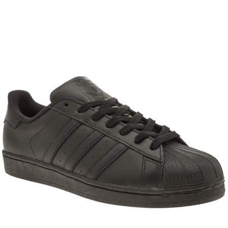 black adidas superstar formatori black adidas superstar, nero