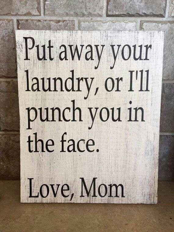 Ha ha ha...but not funny...well kinda. Laundry room
