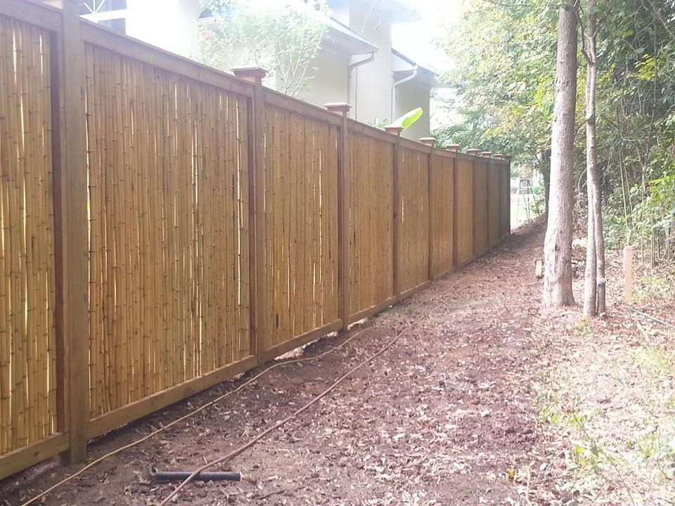 Bamboo fence Elite Fencing in Lexington, SC \