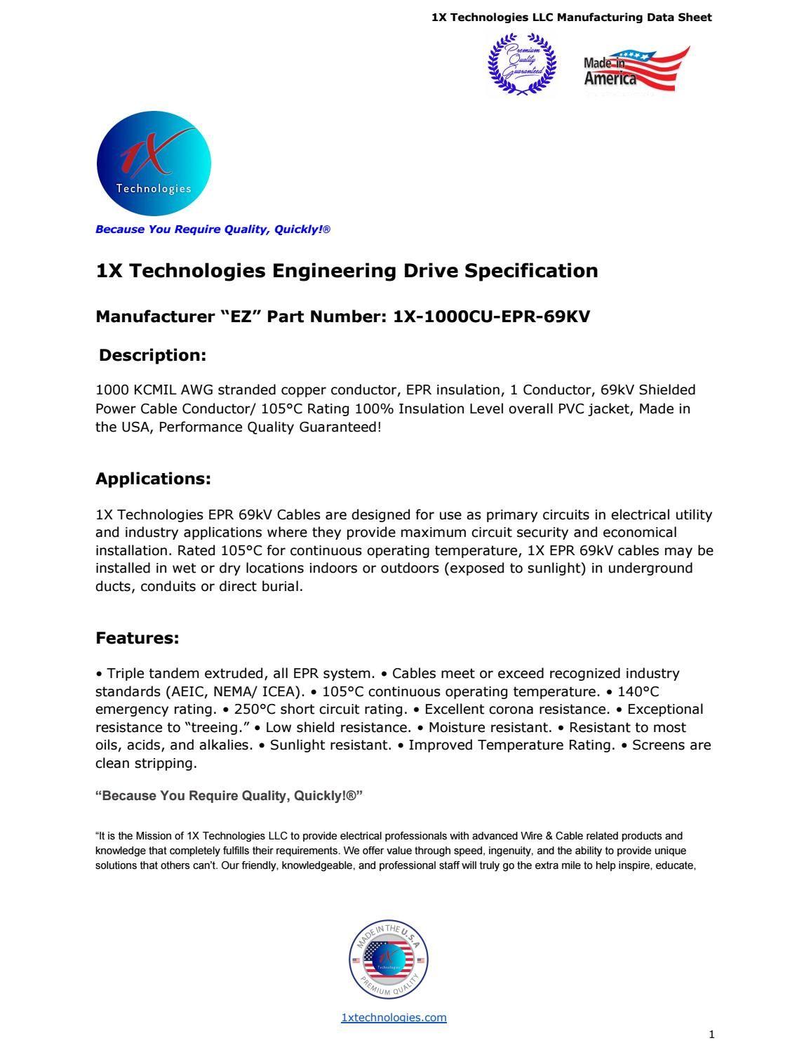 1000 mcm cu epr 69kv 1x technologies engineering drive specification 1000 mcm cu epr 69kv 1x technologies engineering drive specification greentooth Images
