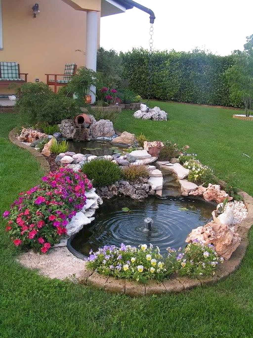 56 Backyard Ponds And Water Garden Landscaping Ideas Home Garden Waterfalls Backyard Backyard Garden Landscape Ponds Backyard
