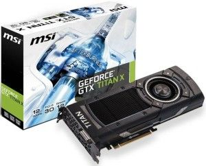 MSI presented its version of GeForce GTX TITAN X graphics cards