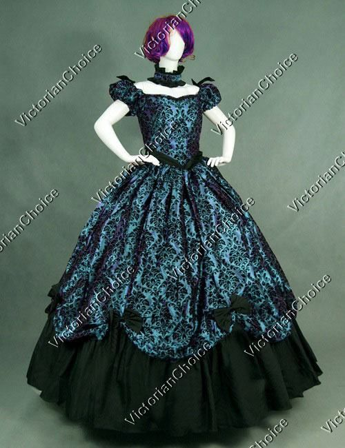 High Quality Southern Belle Old West Victorian Prom Dress Period ...