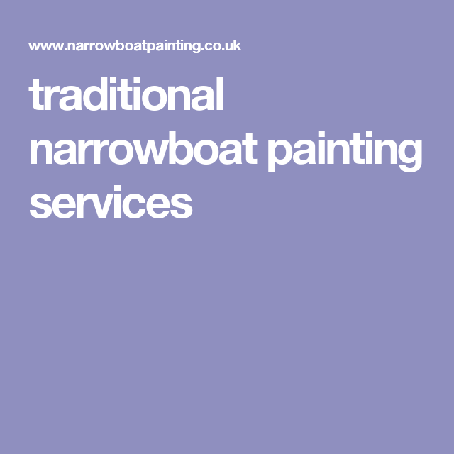 traditional narrowboat painting services