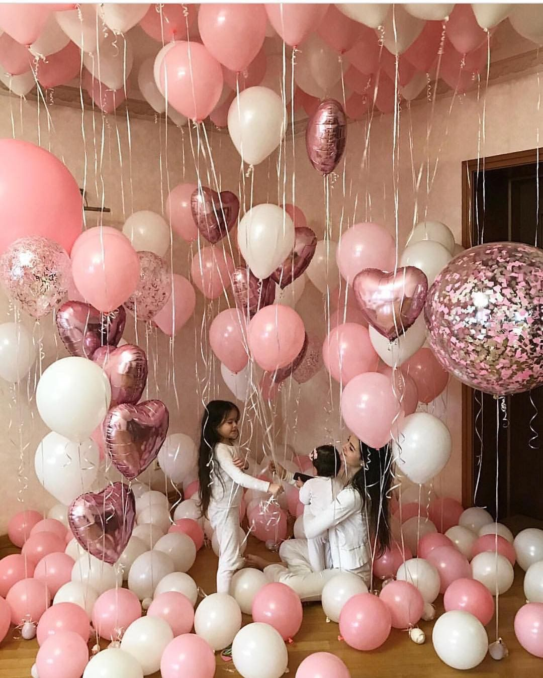 Pink and Gold Birthday Balloon Decoration Ideas