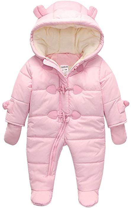 31e2d89b3 Amazon.com  TeenMiro Baby Winter Clothes Newborn Fleece Bunting ...