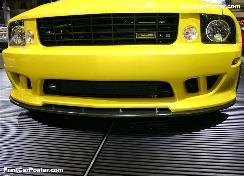 Saleen Ford Mustang S281 Extreme 2005 Poster Ford Mustang Mustang
