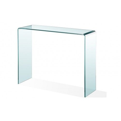 199 Urban Accents Bend Glass Console Table Dimension w36 x