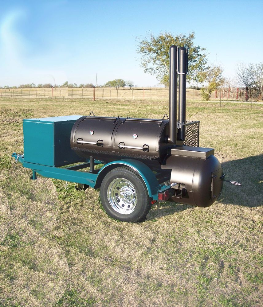 New Custom Bbq Pit Smoker Charcoal Grill Trailer