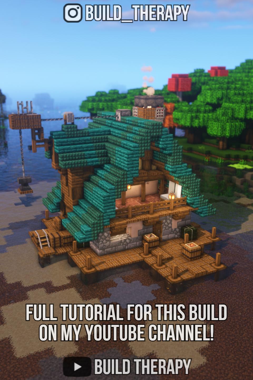 Minecraft Fishing Hut Tutorial