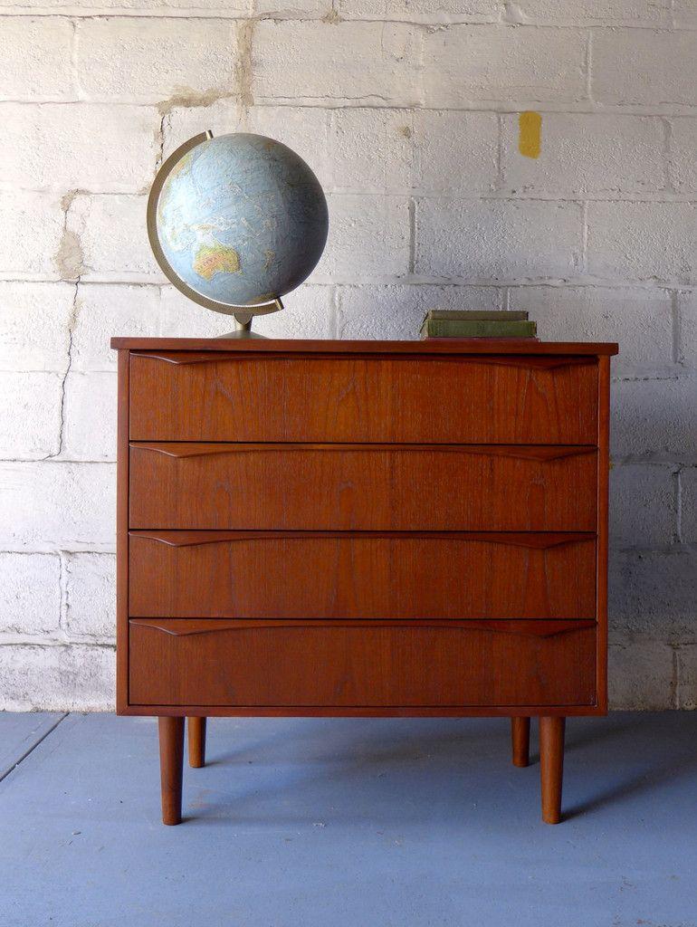 Best Danish Mid Century Modern Teak Dresser Mid Century 640 x 480