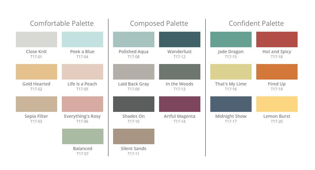 Garden Centre: Behr Color Currents 2017 Palette