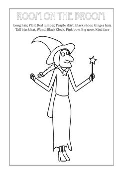 Room On The Broom Witch Vocabulary Match Printable Room On The