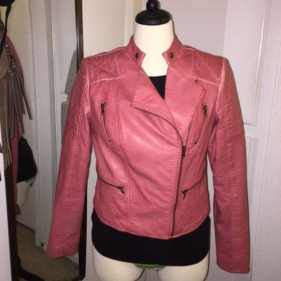 Guess Faux Leather Jacket Size M  Like Brand New Guess Faux Leather Jacket in size M stunning!! Guess Jackets & Coats