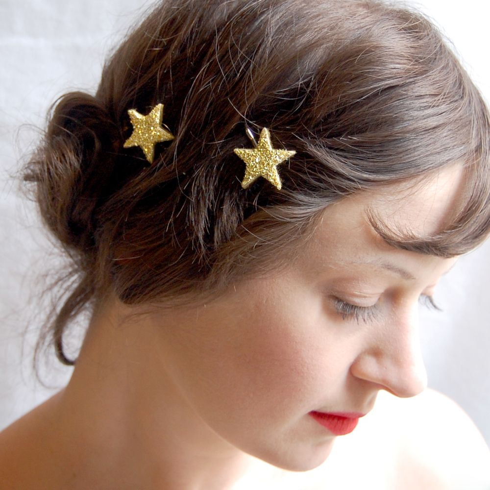 Twinkle sparkler hair pins sterling silver classy sterling silver