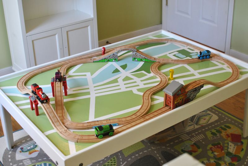 wood train table plans | Wooden Train Set Tables | Pinterest | Train ...