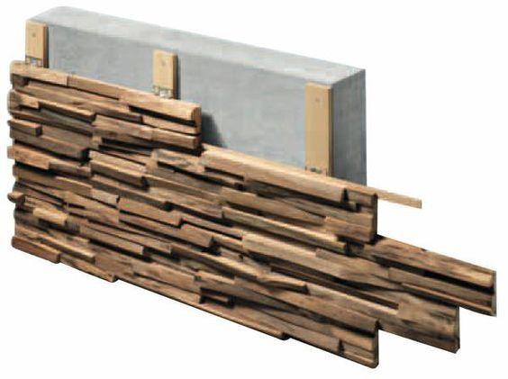 Spannende Waldoptik fürs Wohnzimmer BM online ốp tường gỗ