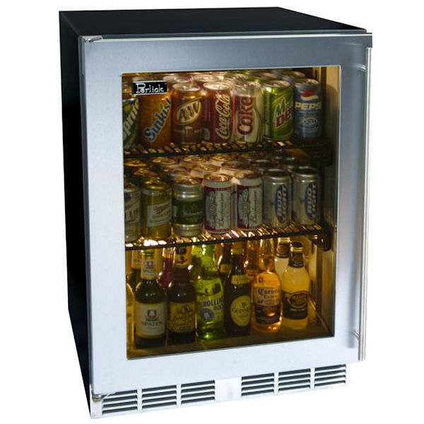 24 Stainless Refrigerator With Stainless Glass Door Learnshopenjoy
