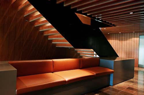 Best Steel Truss Commercial Stair In Office Reception 400 x 300