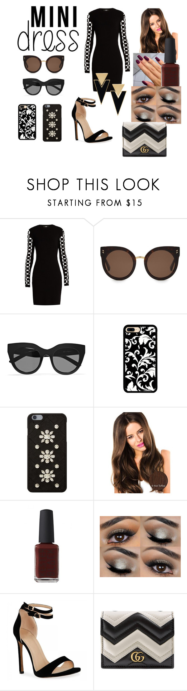 """""""Untitled #6"""" by franwin ❤ liked on Polyvore featuring Versus, STELLA McCARTNEY, Le Specs, MICHAEL Michael Kors, Kester Black, Gucci and Yves Saint Laurent"""