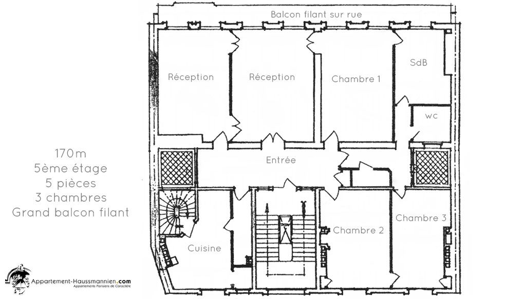 Plan Appartement Haussmannien Recherche Google Plan