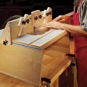 Benchtop router table downloadable woodworking plan editors of benchtop router table downloadable woodworking plan editors of wood magazine amazon keyboard keysfo Images