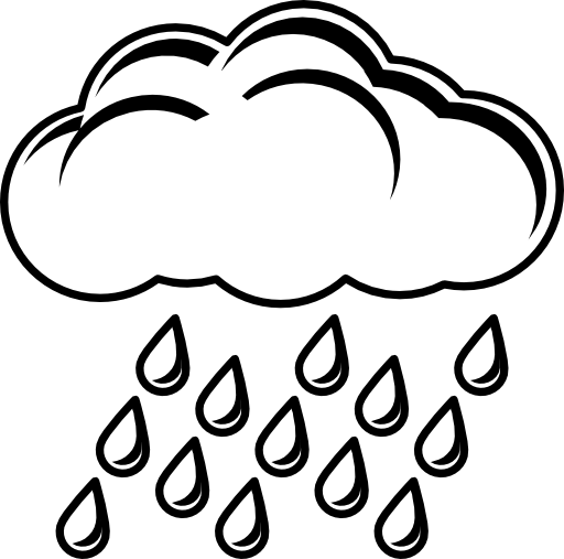 Image Result For Rain Black And White Clipart