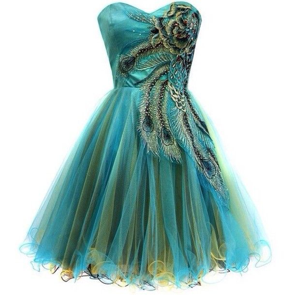 Dress  Pinterest  Peacocks Green party dress and Dresses for prom